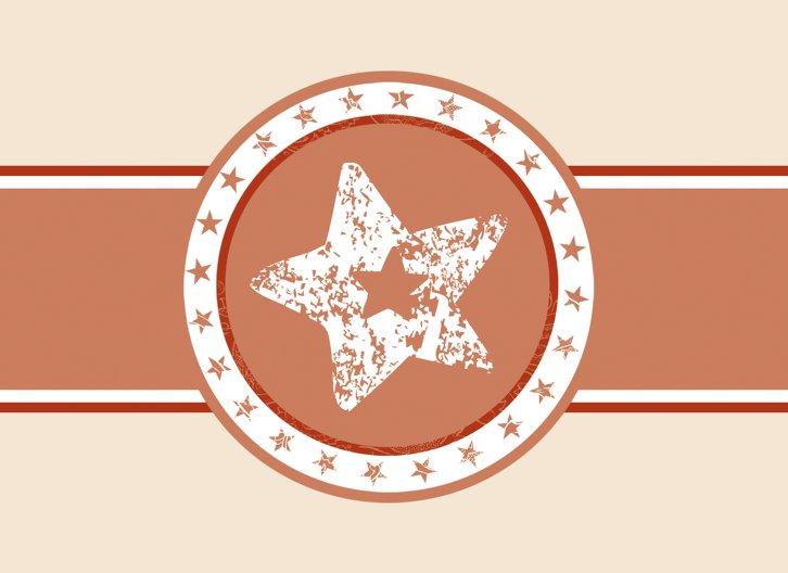 Ansicht 3 - Geburtskarte Stern