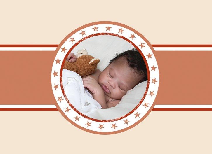 Ansicht 4 - Geburtskarte Stern