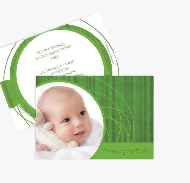 Taufkarte Einladung Wollknäuel