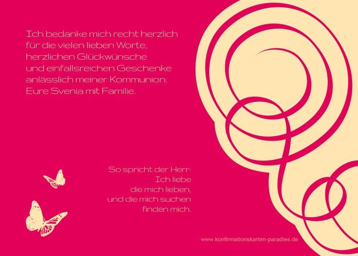 Ansicht 3 - Konfirmation Dankeskarte Butterfly