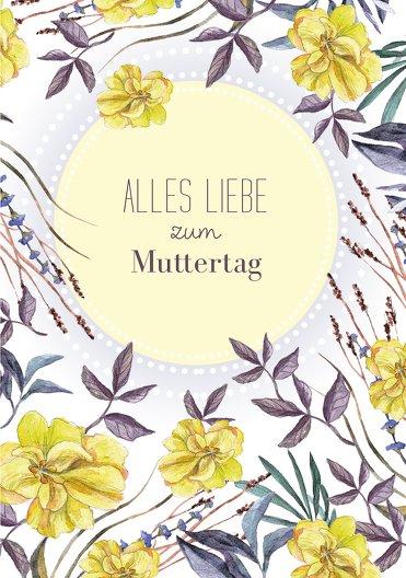 Ansicht 3 - Muttertagskarte Blumenwiese