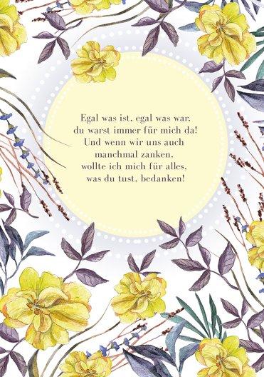 Ansicht 4 - Muttertagskarte Blumenwiese