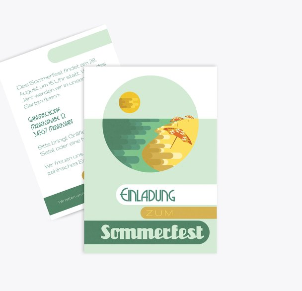 Einladung Sommerfest Sommerflair