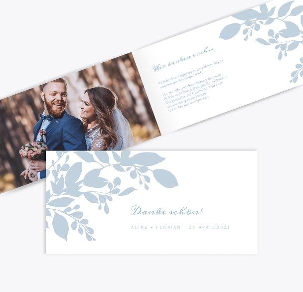 Hochzeit Dankeskarte Blauregen