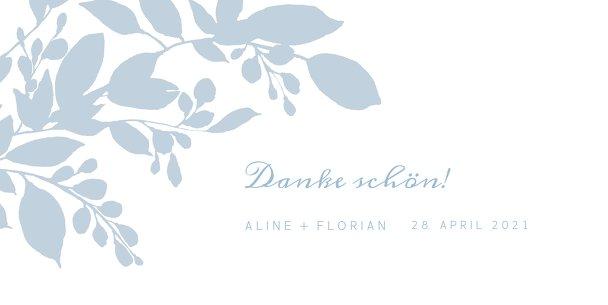 Ansicht 3 - Hochzeit Dankeskarte Blauregen