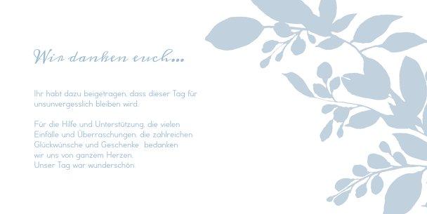 Ansicht 5 - Hochzeit Dankeskarte Blauregen