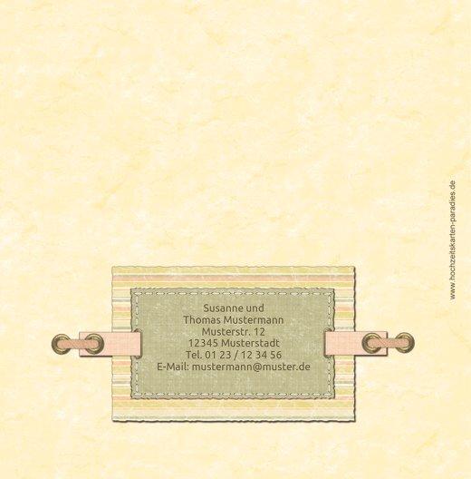Ansicht 2 - Hochzeit Dankeskarte Bund für's Leben