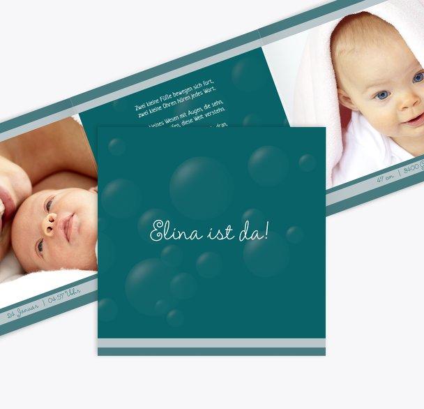 Geburtskarte Bubbles