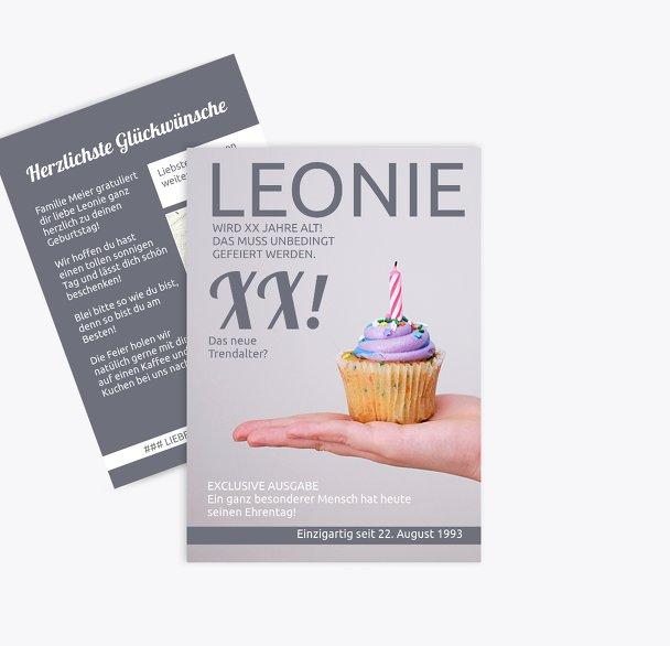 Glückwunschkarte zum Geburtstag Magazin