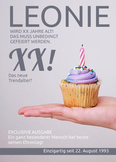 Ansicht 2 - Glückwunschkarte zum Geburtstag Magazin