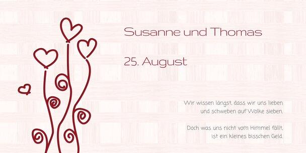 Ansicht 4 - Hochzeit Einladung 2 Liebestraum