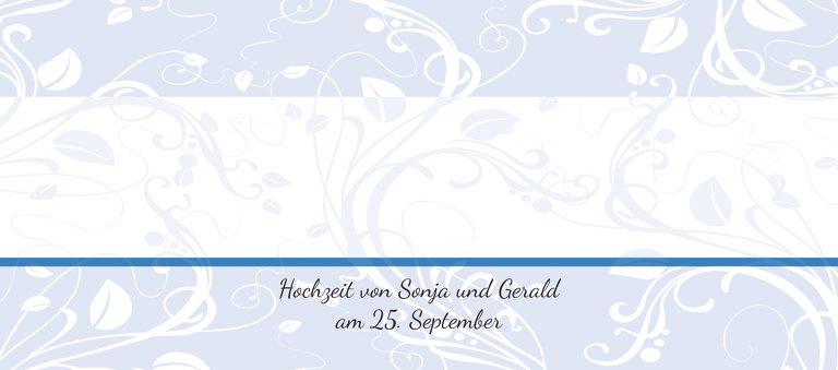 Ansicht 3 - Hochzeit Tischkarte Blättertraum