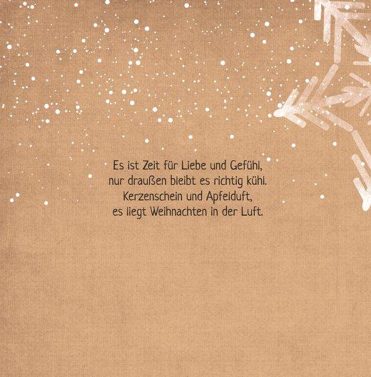 Ansicht 4 - Grußkarte Schneestern