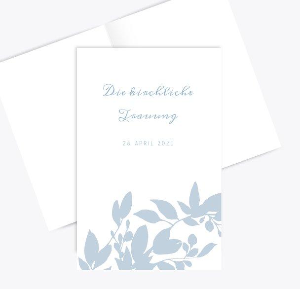 Hochzeit Kirchenheft Umschlag Blauregen