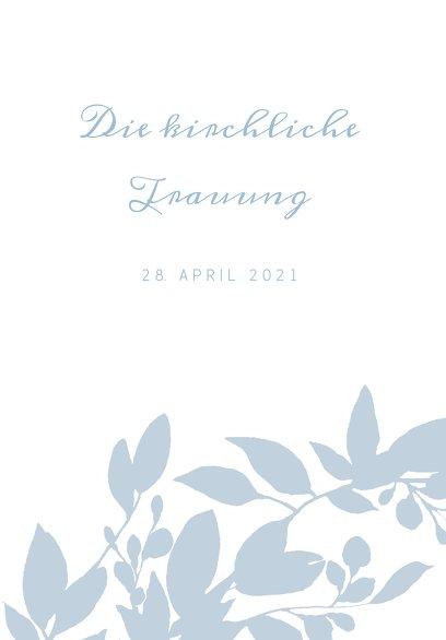 Ansicht 3 - Hochzeit Kirchenheft Umschlag Blauregen