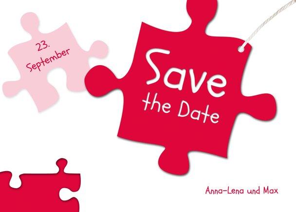 Ansicht 2 - Hochzeit Save-the-Date Puzzleteile