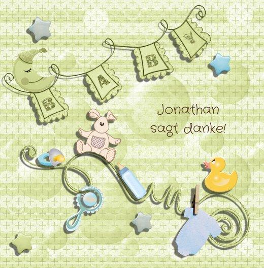 Ansicht 3 - Baby Dankeskarte babyelements