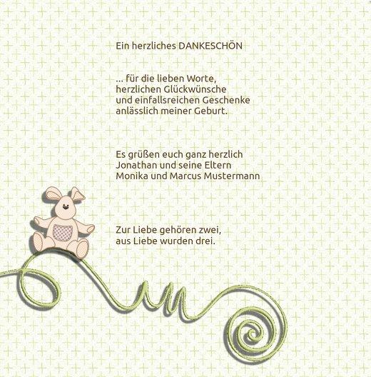 Ansicht 4 - Baby Dankeskarte babyelements