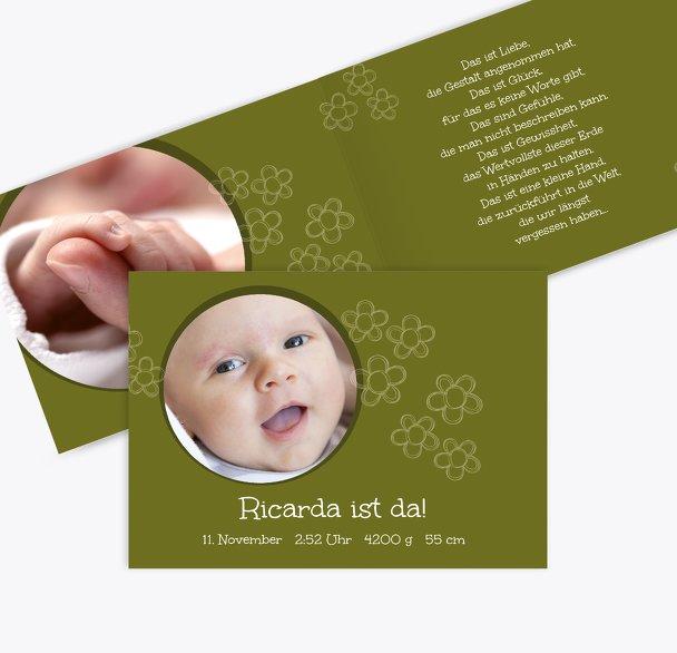 Babykarte Blüten