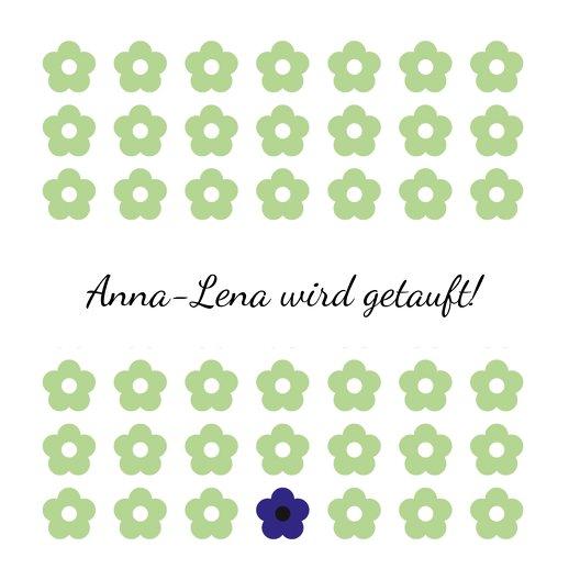 Ansicht 4 - Taufkarte Blumentapete
