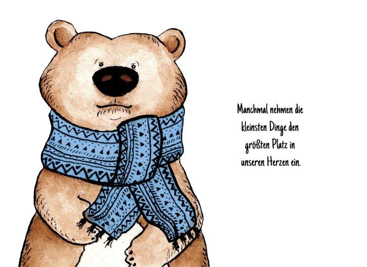 Ansicht 4 - Glückwunschkarte zur Geburt Vintage Bär