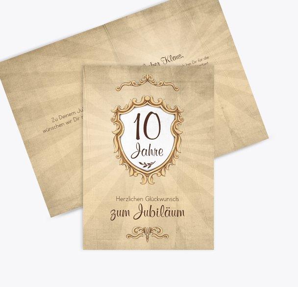 Jubiläumskarte Retro Wappen