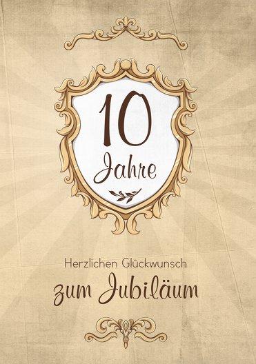 Ansicht 3 - Jubiläumskarte Retro Wappen