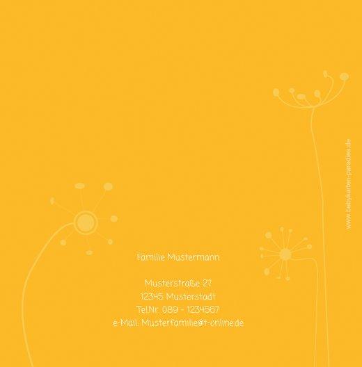 Ansicht 2 - Baby Dankeskarte abstrakte Blumen