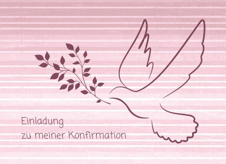 Ansicht 3 - Einladung zur Konfirmation Taube 2