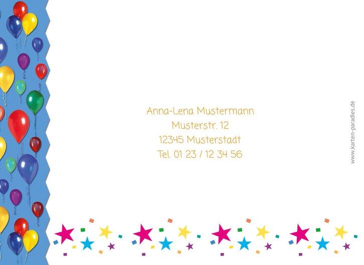 Ansicht 2 - Einladungskarte Luftballon