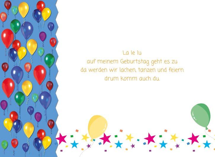 Ansicht 4 - Einladungskarte Luftballon