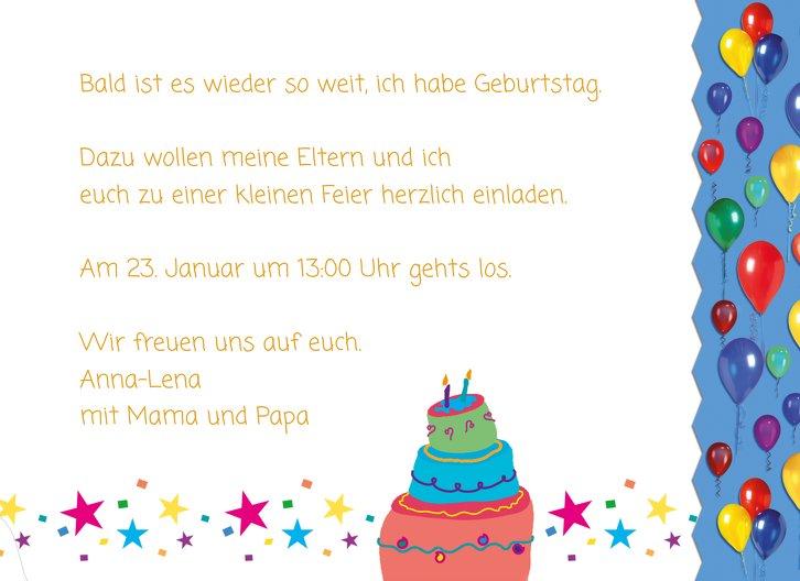 Ansicht 5 - Einladungskarte Luftballon