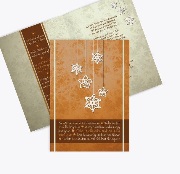 Grußkarte snowflakes