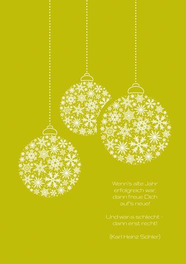 Ansicht 4 - Weihnachtsgrußkarte Kugeln