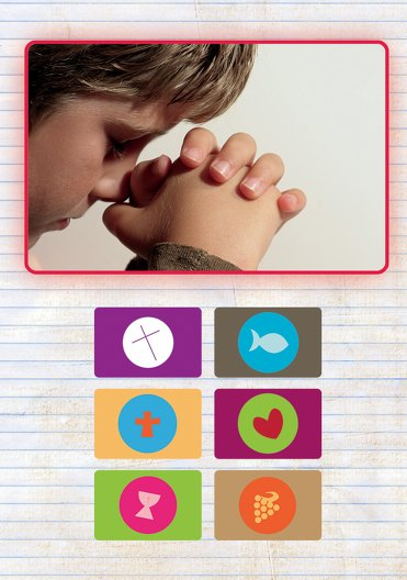 Ansicht 4 - Kommunion Dankeskarte buttons