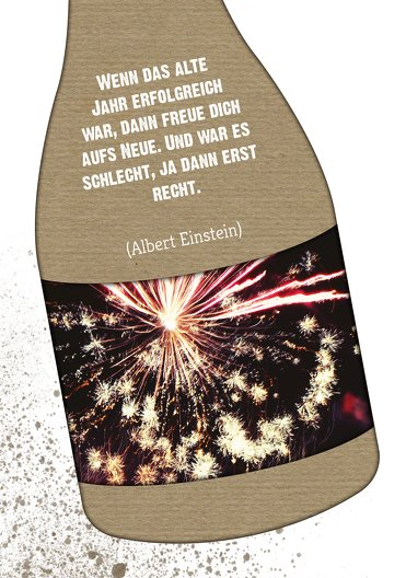 Ansicht 4 - Neujahrskarte Sektflasche