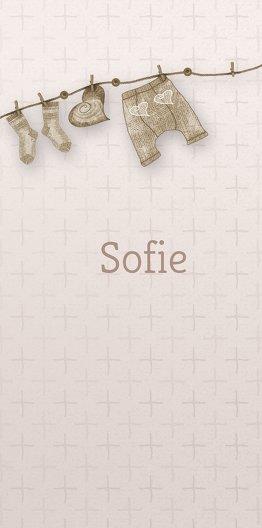Ansicht 4 - Babykarte Wäscheleine