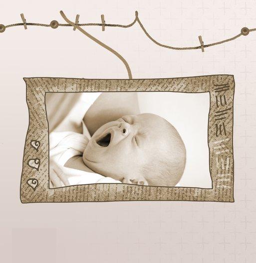Ansicht 6 - Babykarte Wäscheleine