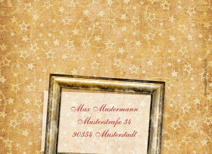 Ansicht 2 - Grußkarte Weihnachten Goldenes Geschenk
