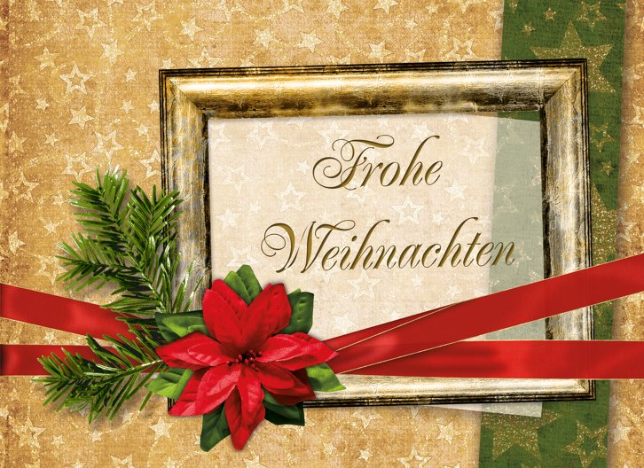 Ansicht 3 - Grußkarte Weihnachten Goldenes Geschenk