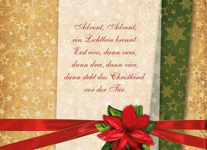 Ansicht 4 - Grußkarte Weihnachten Goldenes Geschenk