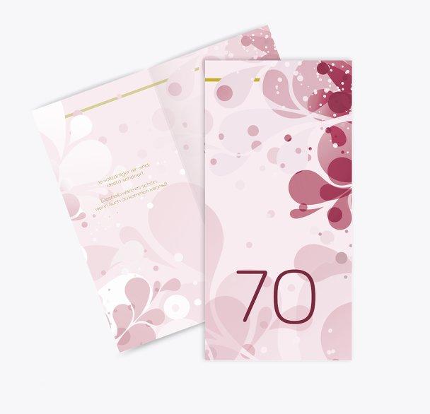 Einladungskarte Flora 70