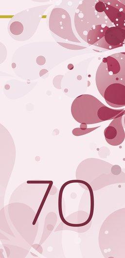 Ansicht 3 - Einladungskarte Flora 70