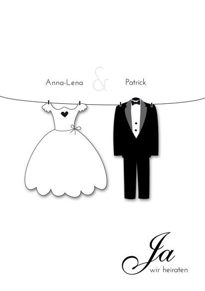 Ansicht 3 - Hochzeit Einladung dress and suit
