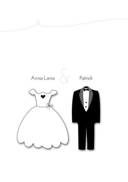 Ansicht 4 - Hochzeit Einladung dress and suit