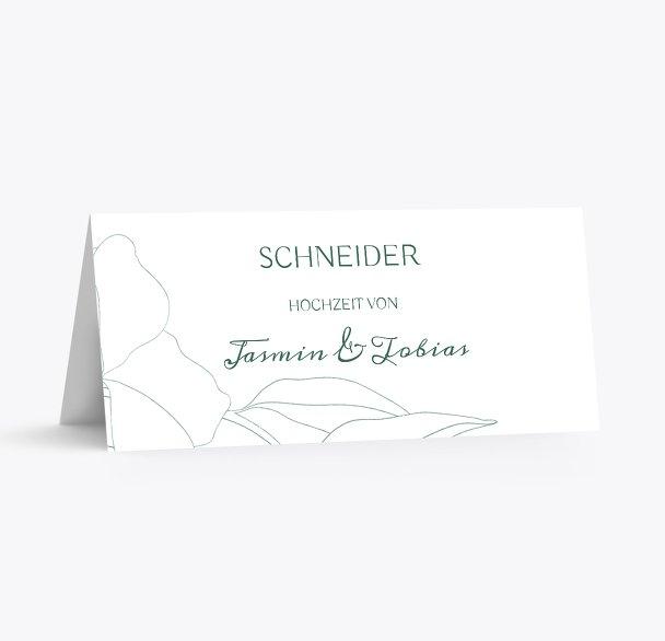 Hochzeitskarten_Tisch Zahrte Blume