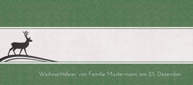 Ansicht 3 - Tischkarte classic Elch