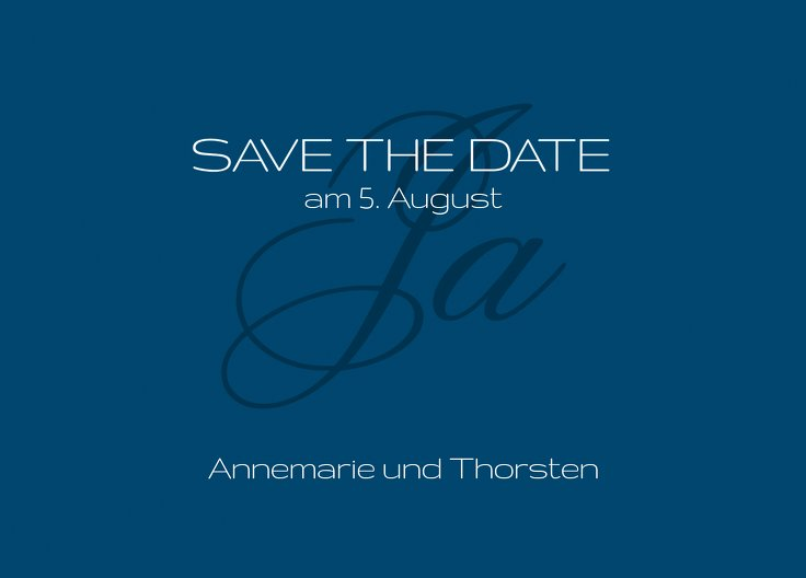 Ansicht 2 - Save-the-Date Sagja