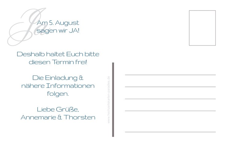 Ansicht 3 - Save-the-Date Sagja