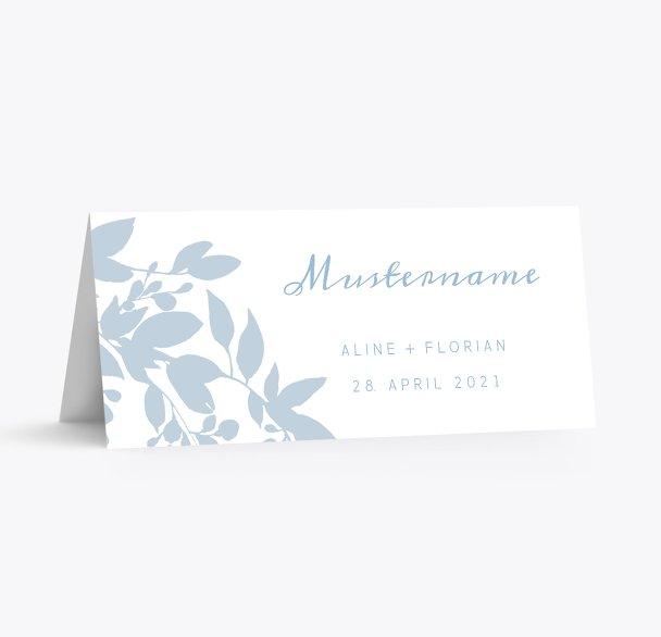 Hochzeit Tischkarte Blauregen